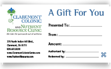 Claremont Colonic Gift Card