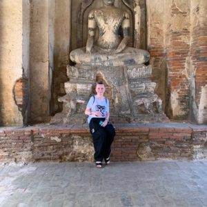 We started making our way north to Ayutthaya which was the previous capital of Thailand and had many beautiful ruins.