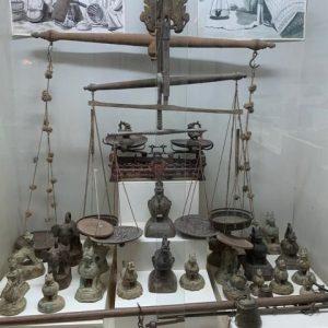 Visiting the opium museum in Myanmar.