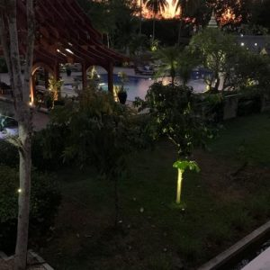 This is the first evening at our hotel in Laos.