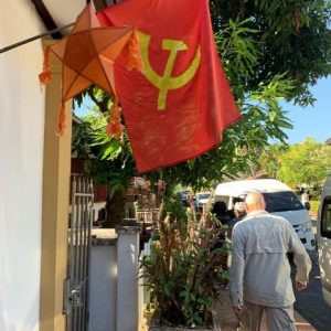 Laos is communist but they still have religion and you can own your own property and have your own business.  So I guess communism didn't quite work out did it?