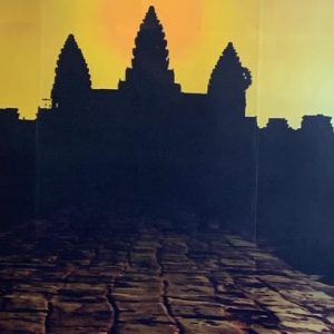 The awesome Angkor Wat at sunrise.